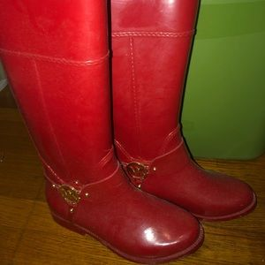 Michael Kors Red Rainboots